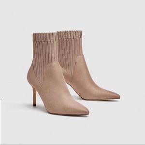 NEW Women High heel sock-style ankle boots